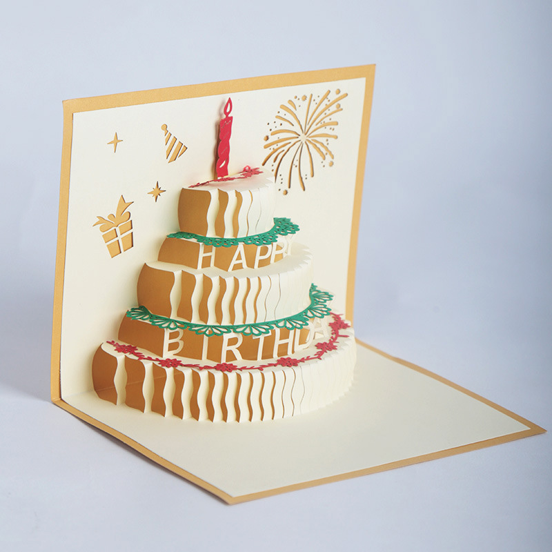 Открытка поп ап торт