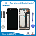 Para xiaomi redmi note 2 substituir visor de vidro lcd screen display toque digitador assembléia para redmi note 2