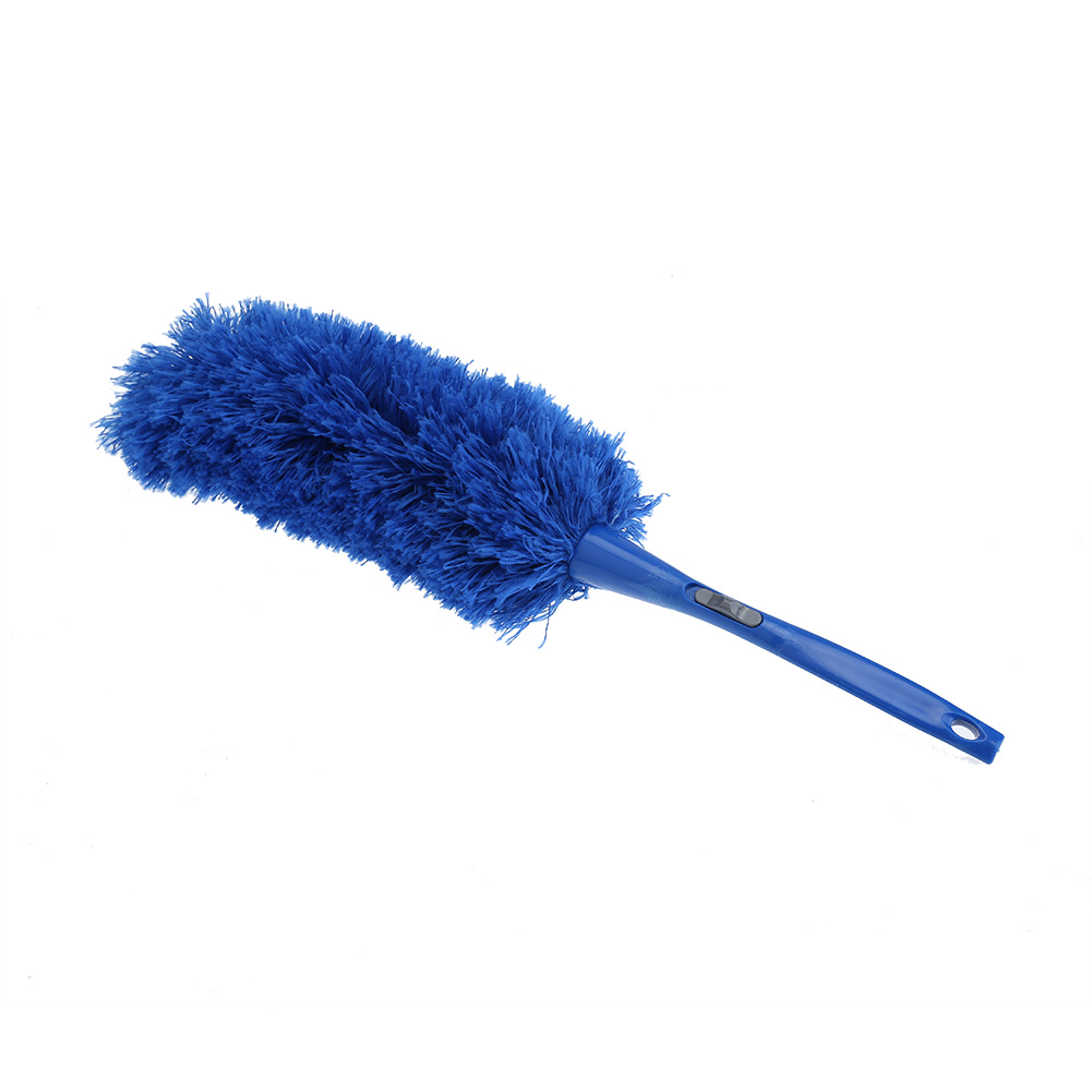 Soft Microfiber Cleaning Duster Dust Cleaner Handle Feather Duster Static Blue Household Dusting Brush Cars Cleaning