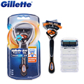 Оригинал Gillette Fusion Proglide Flexball Бритья Лезвия 1 Ручка + 2 Лезвия Для Мужчин
