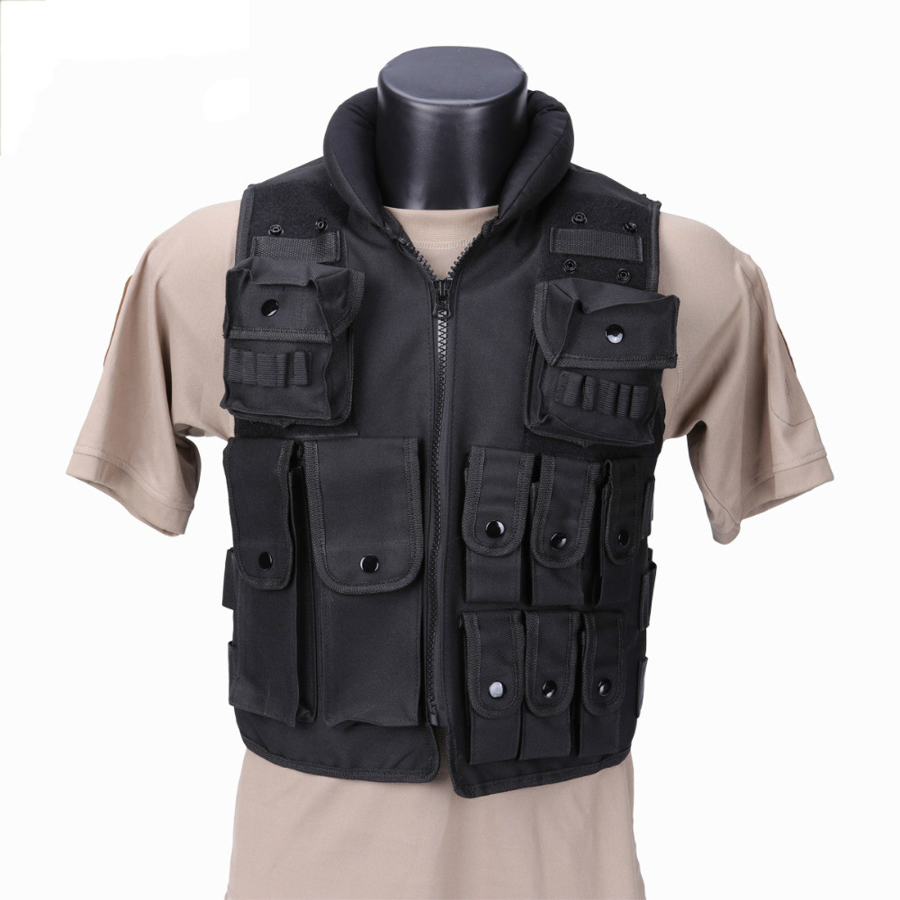 Police SWAT Tactical Vest Military Tactical Vest Army Hunting Molle Airsoft Vest Outdoor Body Armor Swat