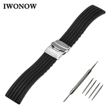Silicone Rubber Watch Band 17mm 18mm 19mm 20mm 21mm 22mm for Timex