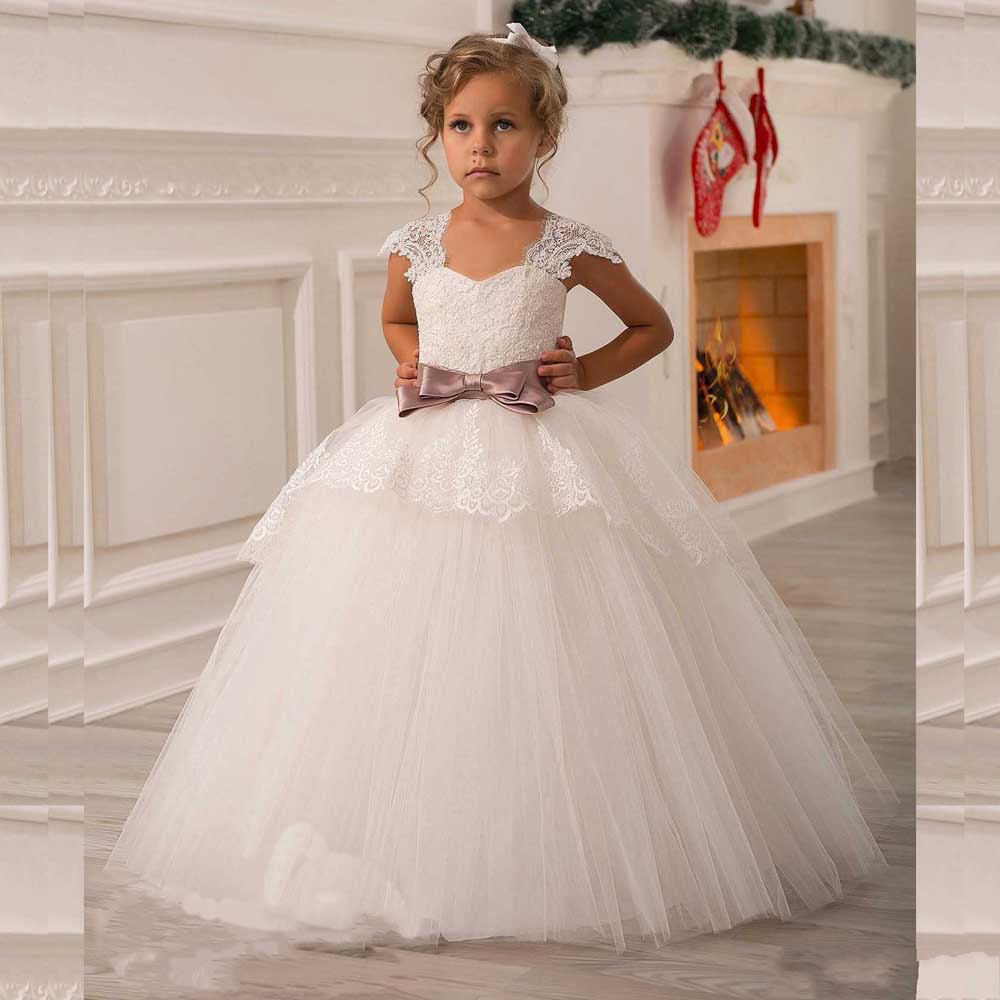 First Communion Dresses For Girls 2017 With Lace Appliques Organza ...