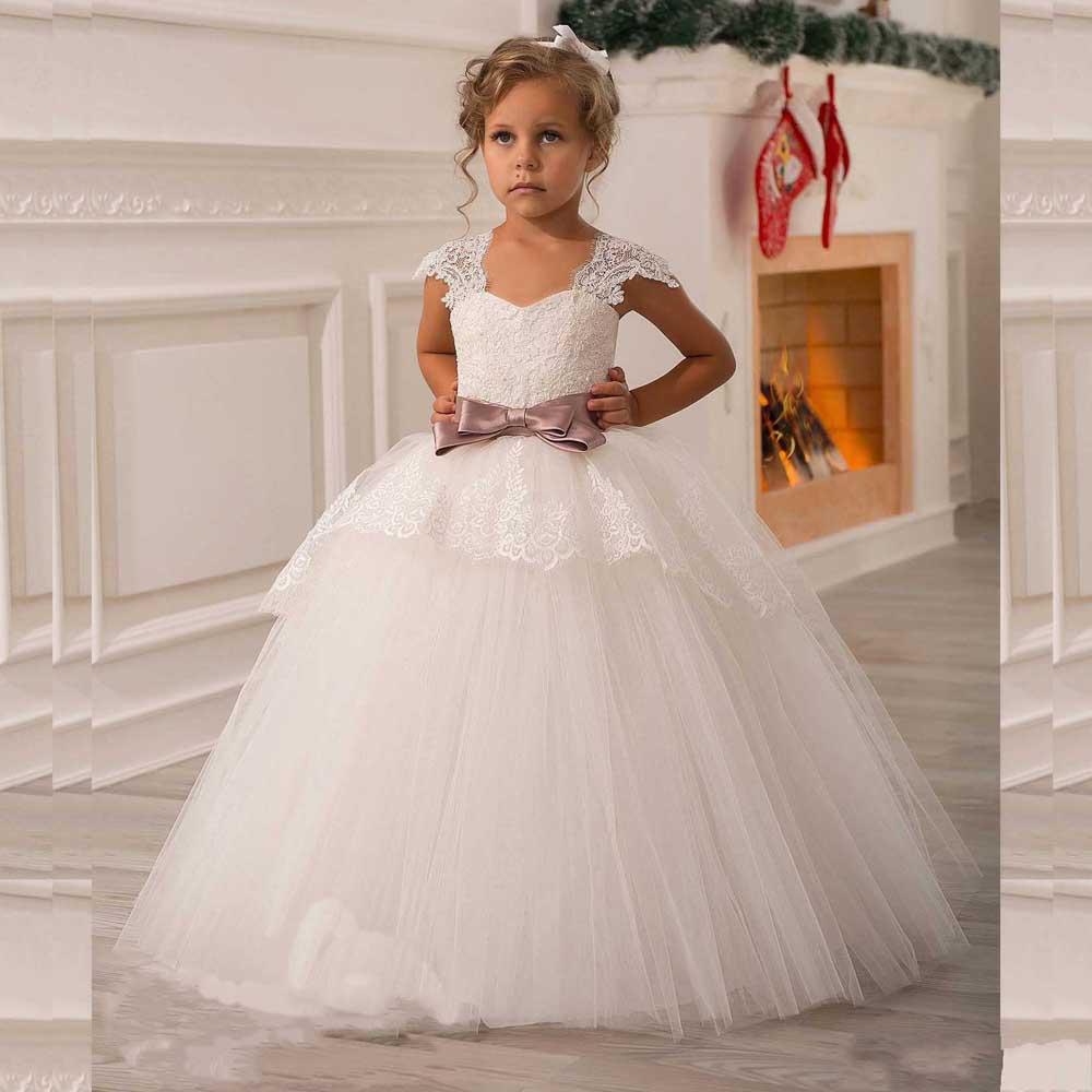 Vestidos De Primera Comunión Para Niñas 2017 Con Apliques De