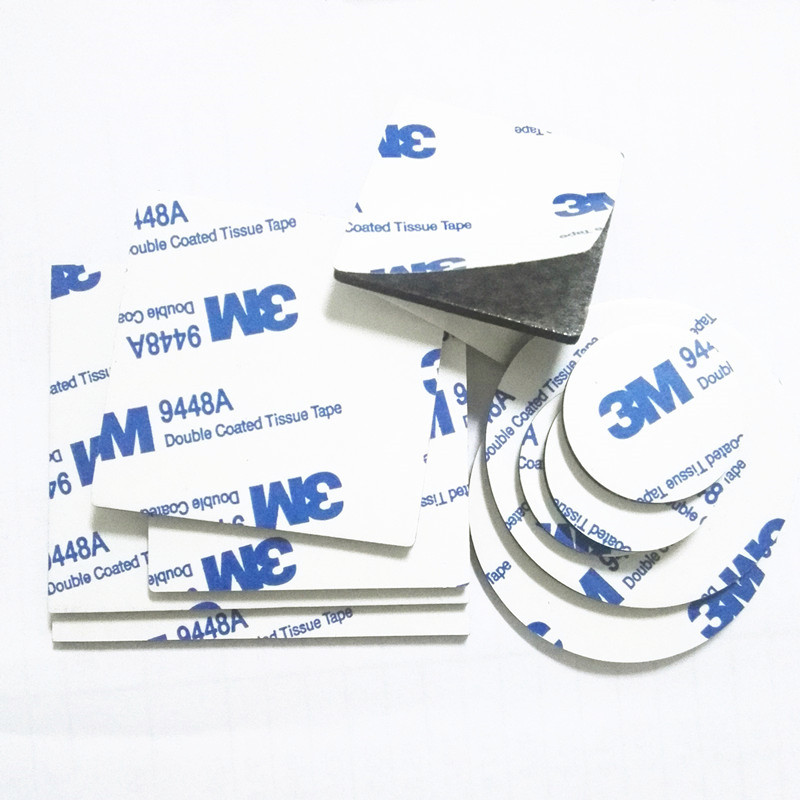 3M 9448A Strong Double Sided Adhesive Acrylic Foam Tape Two Sides Mounting Sticky Tape Black Multiple Sizes Rounded Square 10pcs
