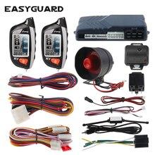 EASYGUARD 2 Way Car Alarm System LCD Pager Display Remote En