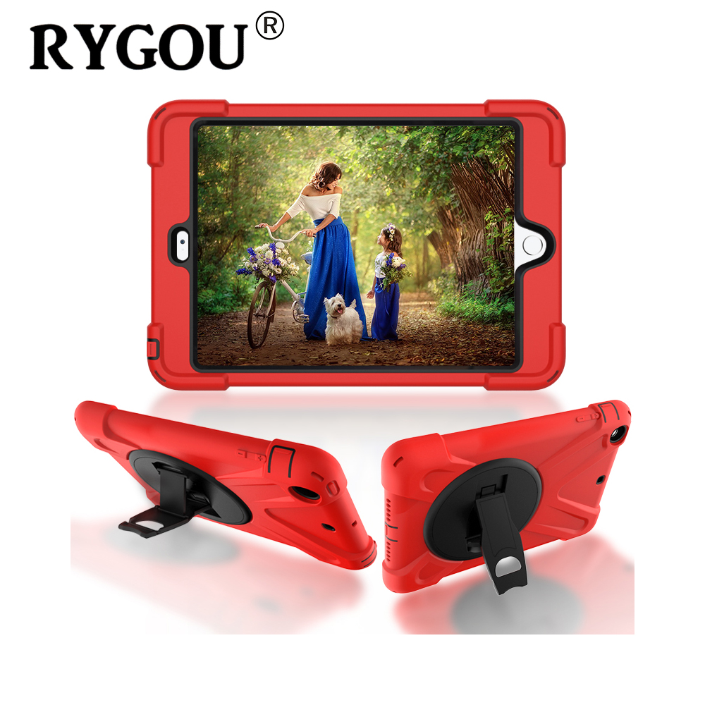 RYGOU Case For iPad Mini 1 2 3 Retina Kids Safe Heavy Duty Dust/Shock Proof Silicone & Hard Case Cover for iPad mini Case Cover