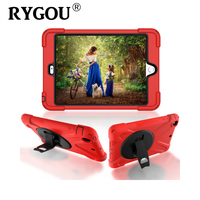 RYGOU Case For IPad Mini 3 Retina Kids Safe Heavy Duty Dust Shock Proof With Stand
