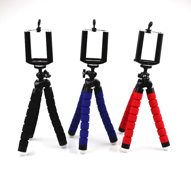Mini Flexible Sponge Octopus Tripod for iPhone Samsung Xiaomi Huawei Smartphone Tripod Stand Holder for Gopro Camera DSLR Mount