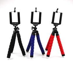 Mini flexível esponja polvo tripé para iphone samsung xiaomi huawei smartphone tripé suporte para câmera gopro dslr montagem
