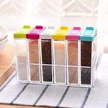 Приправа коробка Креативная кухня кондиционер коробка для хранения кухни бутылка для приправ банка для специй пластик Q004