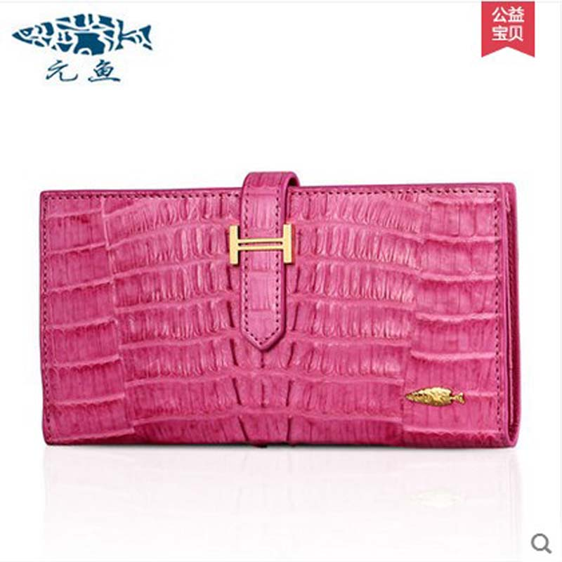 yuanyu 2017 new hot free shipping Crocodile skin  new lady long purse wallet tide crocodile  hand caught bag women wallet aurora мягкая игрушка обезьянка с заплатками 45 см aurora