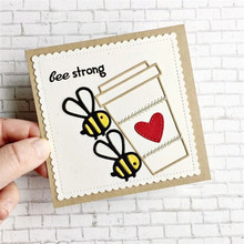 Eastshape Cute Bee Heart Metal Cutting Dies Scrapbooking Love Stencils for Card Making Decorative Embossing Suit Paper Cards