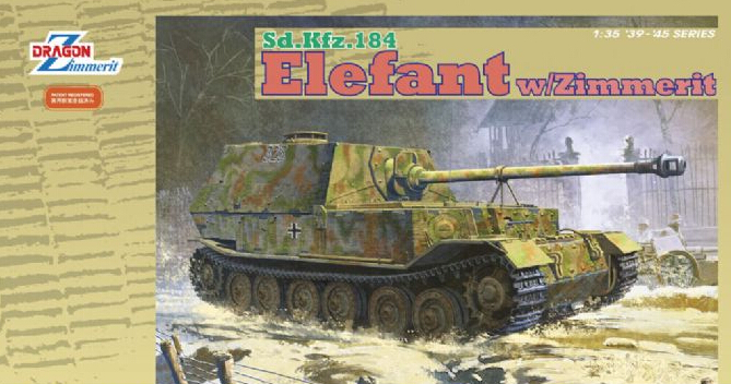 Dragon model 6465 1/35 scale Sd.Kfz.184 Elefant w/Zimmerit realts dragon 6746 1 35 flak 43 flakpanzer iv ostwind w zimmerit