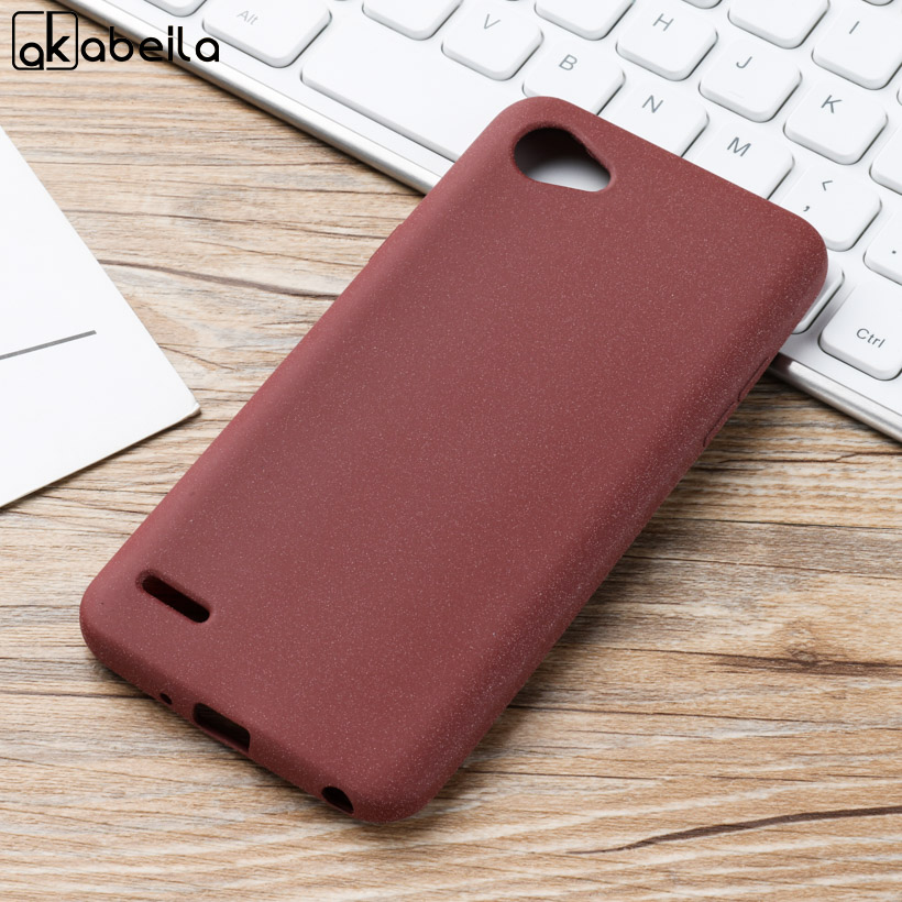 AKABEILA Case For LG Q6 Case Soft TPU For LG Q6 Silicone Scrub Protective Back Cover For LG G6 Mini M700DSK M700AN Q6 Plus M703 in Fitted Cases from Cellphones Telecommunications