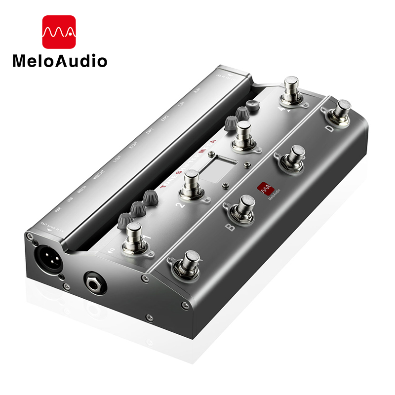 TS Mega 2 In 1 Midi Foot Controller For Guitar With Audio Interface USB Guitar Recording For IPhone IPad Android Devices Mac PC