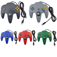 100pcs wholesale Hot USB Game Wired Controller Joypad Joystick Gamepad Gaming Not For Nintendo not for N64 64 Style 5colors