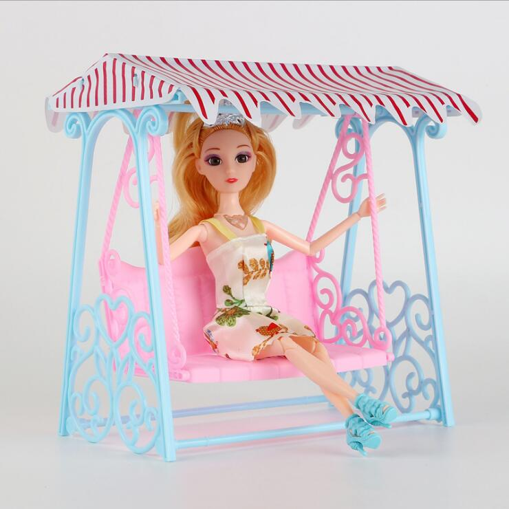 Fashion For Barbie Swing Arrival Doll Accessories Swing For Barbie Pretend Play Toys For Girl Casual Sunshine Garden Rocking