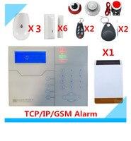 DIY французский голос TCP/IP GSM сигнализация Системы RFID сигнализации дома Системы с Открытый Солнечный вспышки строба сирена охранной сигнализ