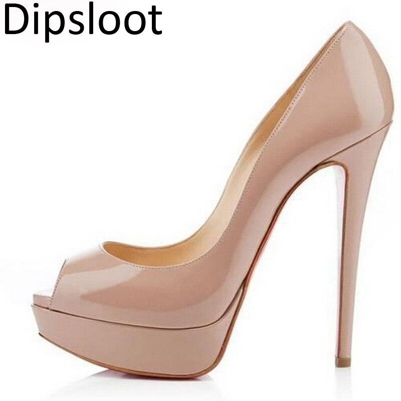 Womens Platform Party Wedding Blinking Stiletto peep Toe Strappy High Heel Shoes