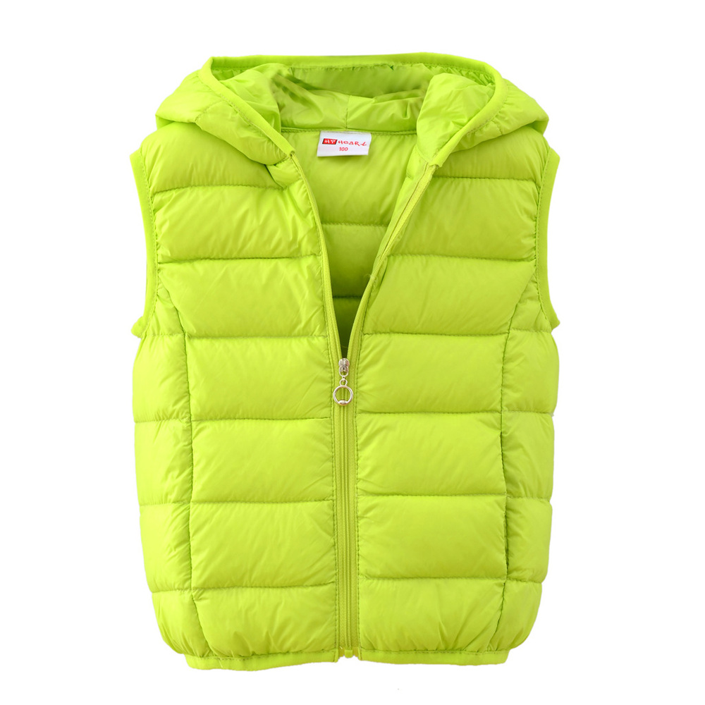 7eb3385beb5 Kids Winter Down Waistcoat Zipper Waistcoat Hooded Down Vest Boys or Girl  Vest Girls Vest Children's Vest-in Down & Parkas from Mother & Kids on ...