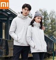 Xiaomi youpin три в одном Путешествия куртка 90% утиный пух защита от ветра, от дождя съемный вкладыш Пара моделей теплое пальто