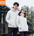 Xiaomi youpin tres-en-uno viajes chaqueta de pato 90% a prueba de viento a prueba de lluvia forro desmontable par modelos abrigo cálido