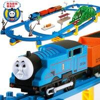 60 sztuk/zestaw Duża orbita małe elektryczne zabawki pociągu Thomas akustyczno-optycznego wersja podwójnego toru pociąg zabawki dla dzieci dzieci Zabawki