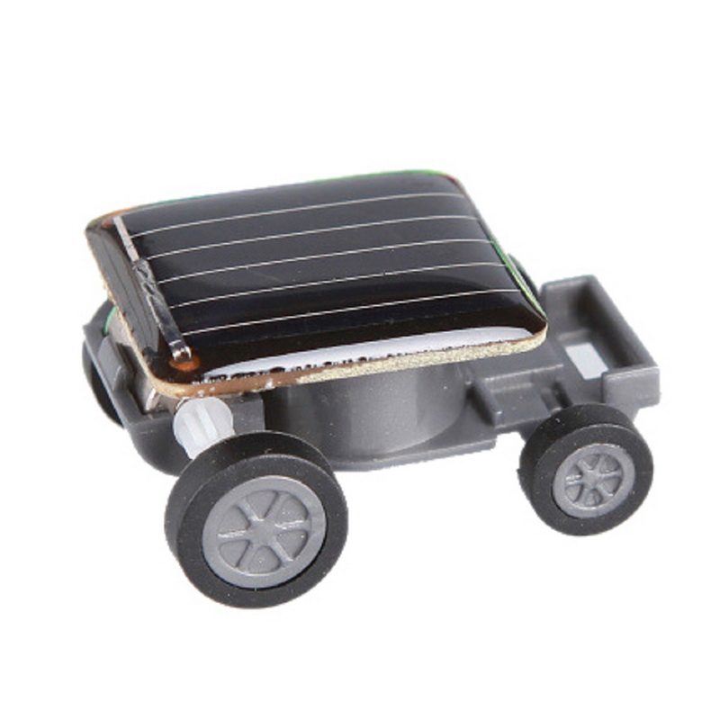 1 Pcs Smallest Mini Car Solar Powered Toy Car New Mini Children Solar Toy Gift Baby Kid Solar Car Toy