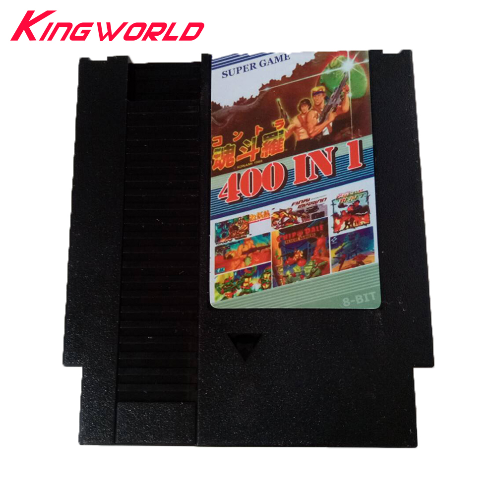 High quality 400 in 1 Game Card for NES 72pins 8 bit Game Cartridge with Dust Sleeve