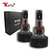1 Pair H8 H9 H11 H16 H16JP LED Headlight Bulbs Conversion Kits 30W 4200LM 6000K White