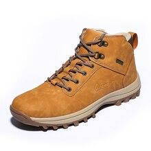 2019 hiver hommes chaussures d'escalade en plein air PU cuir chaussures de randonnée homme grande taille automne haute coupe chaussures décontractées Botas