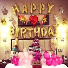 """FunPa """"с днем рождения"""" буквы фольги баллоны для дня рождения украшения золотой детский баллон поставки вечерние Декор балон"""