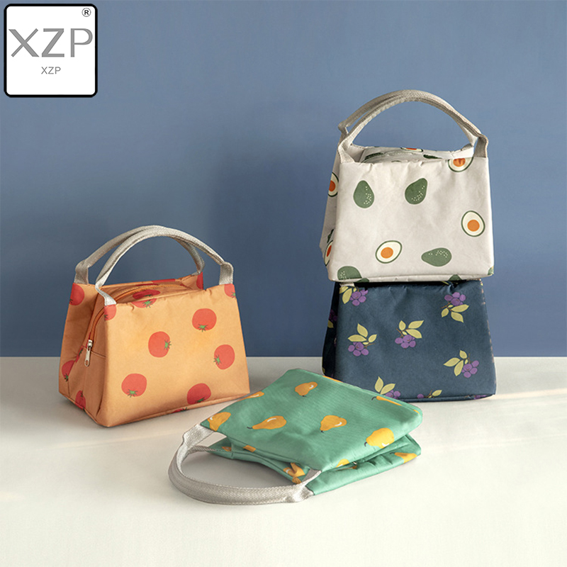 XZP Avocado Print Lunch Bags Women Portable Functional Fruit Print Insulated Thermal Food Picnic Kids Cooler Lunch Box Bag Tote