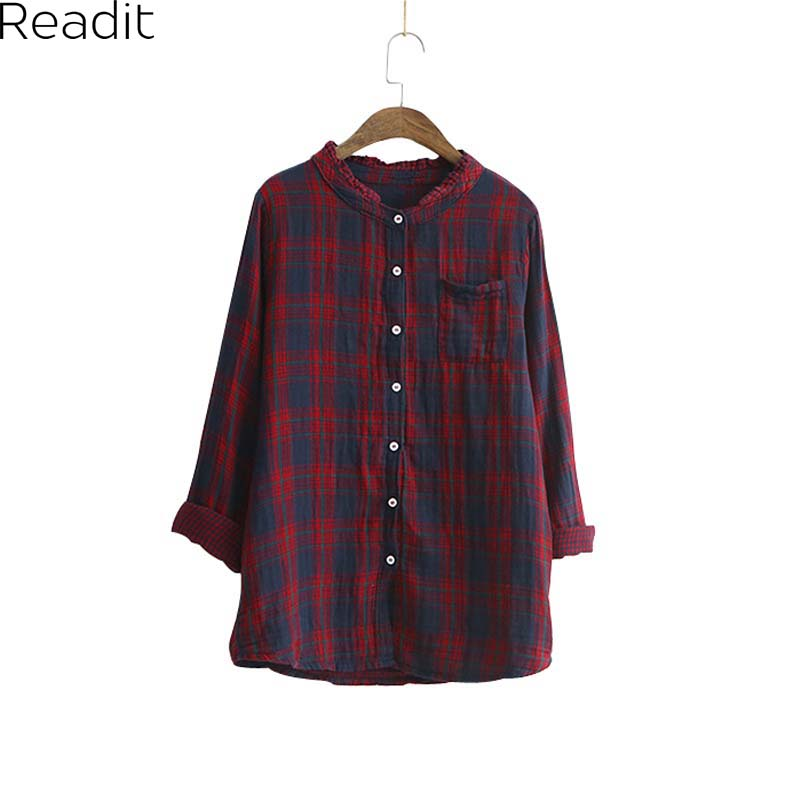 Online Get Cheap Women Button Checked Shirt -Aliexpress.com ...