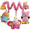 O envio gratuito de brinquedos do bebê 0-12 meses Bonito Rosa Bee Suave Chocalhos de Brinquedo Do Bebê Cama Infantil Pendurado Brinquedo Educativo Musical de pelúcia chocalhos