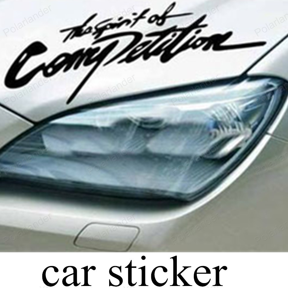 Car decals and graphics design - New Design The Spirit Of Competition Auto Car Truck Vinyl Graphics Decal Stickers Automobiles Car