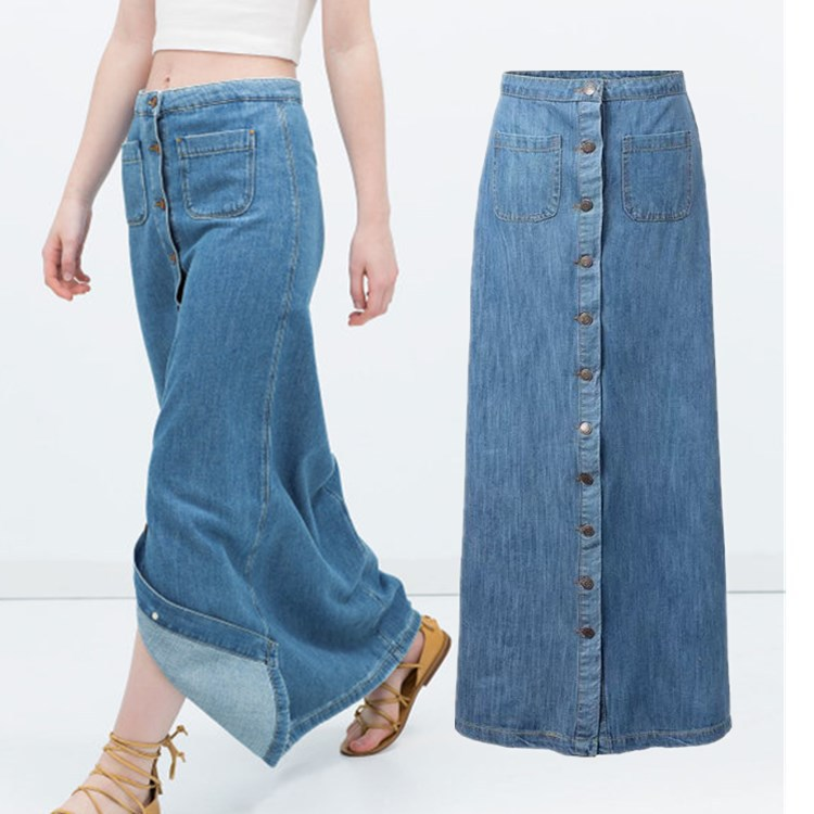 Long Maxi Denim Skirts