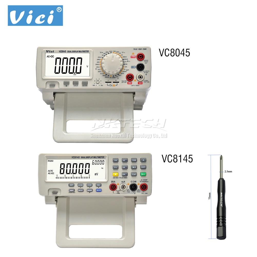 VC8145 VC8045 4 7 8 VICI DMM Digital Bench Top Multimeter True RMS 80000 Counts Tester Auto Range Multimetro Voltmeter Ohmmeter