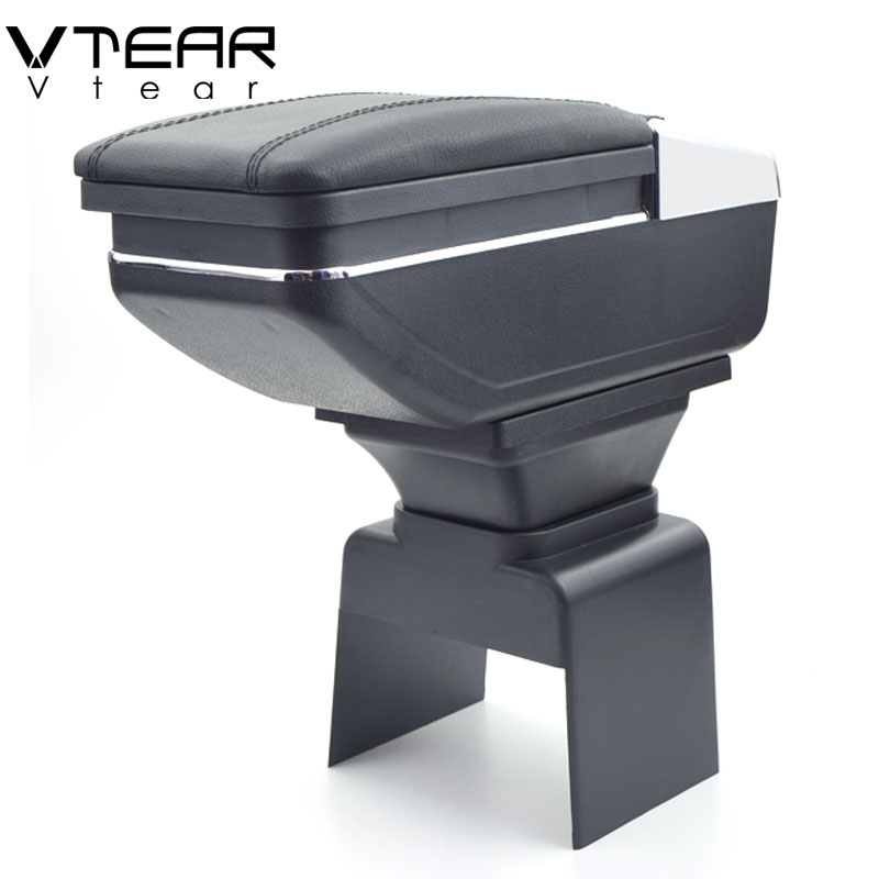 Vtear For Peugeot 307 armrest box central Store content box cup holder ashtray interior car styling