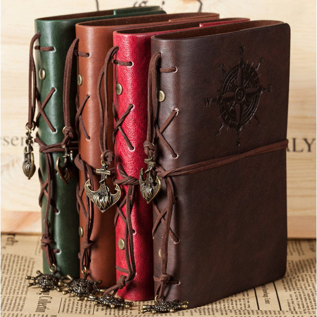 """""""Traveler's Handbook"""" Travel Diary Notebook Faux Leather Cover Bound Any Year Journal"""