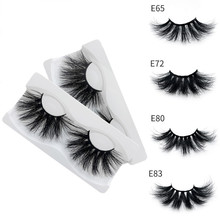25mm5D mink hair false eyelashes 3D hand-made natural thick eyelash extension