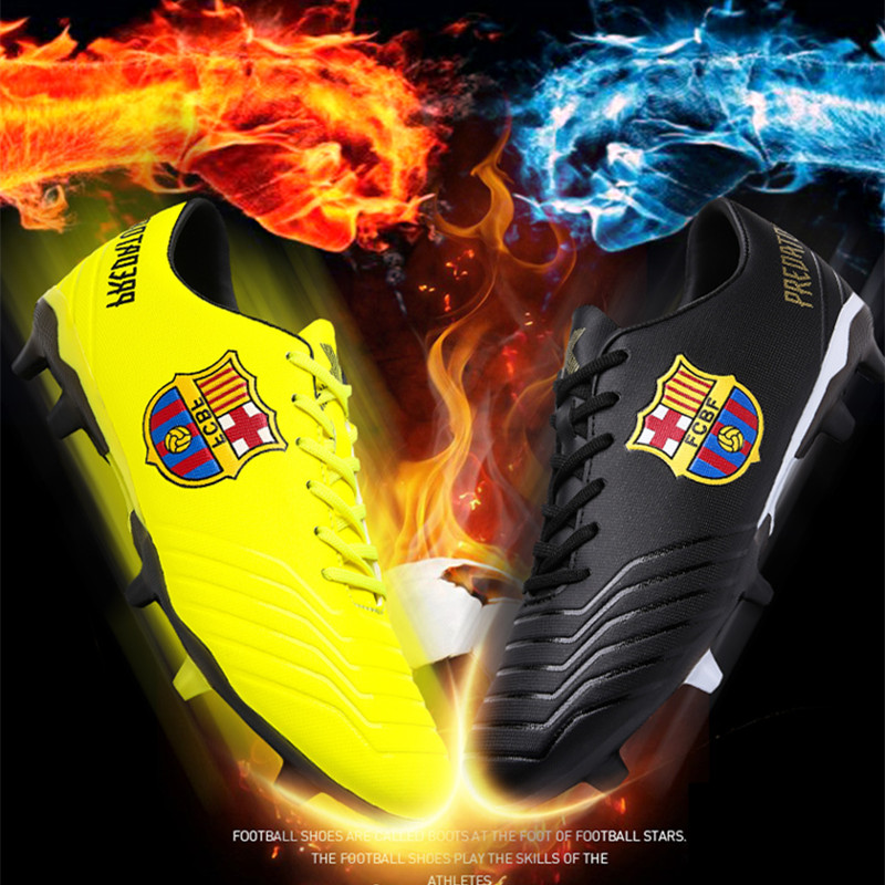 Men's Soccer Shoes Outdoor Cleats New Adults Breathable TF/FG Football Boots Training Men Sports Sneakers Shoes Soft Turf Futsal(China)