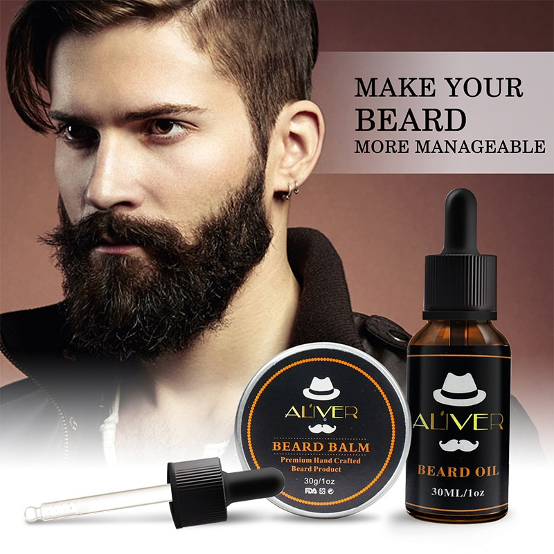 30ml/30g Men Beard Oil StrengthensThickens Healthier Beard Growth While Argan Oil Wax Boost Shine Maintain Hold Recommend