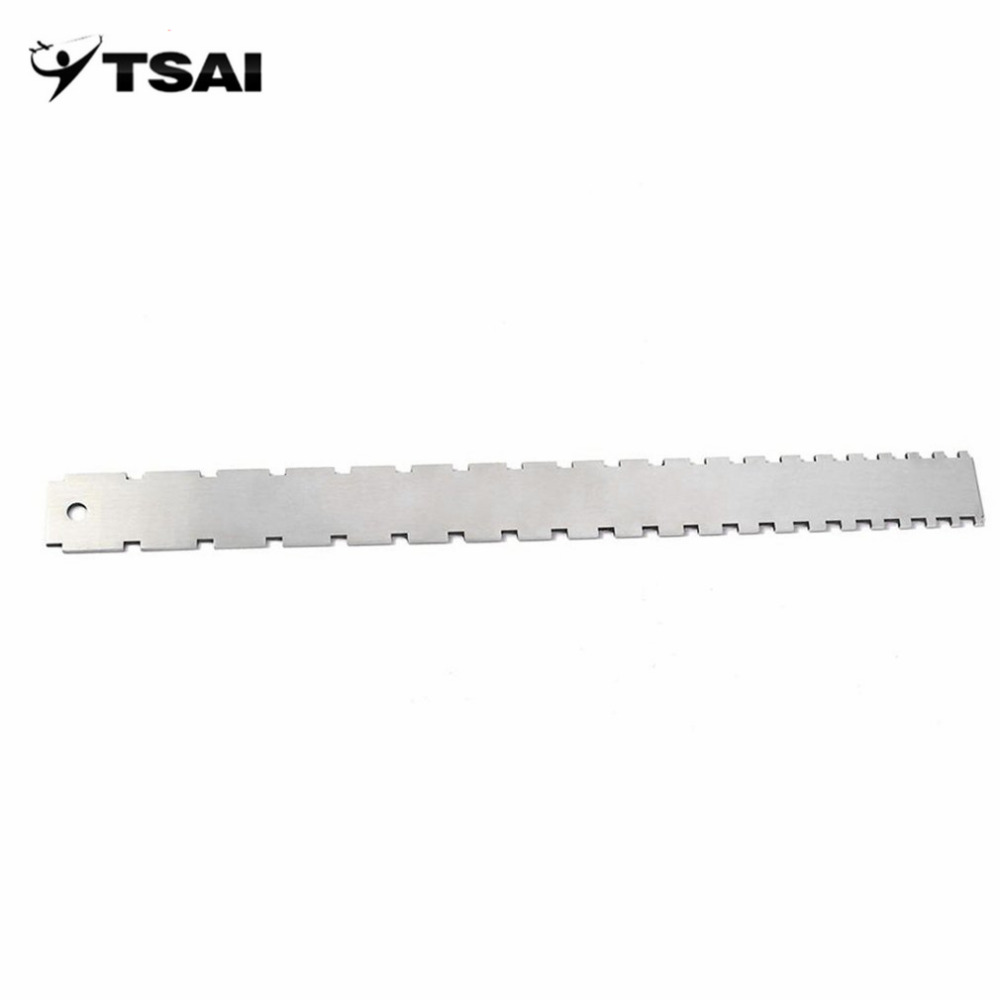 TSAI Stainless Steel Guitar Straight Edge Measure Tool For Electric Guitars Guitar Neck Notched Fretboard and