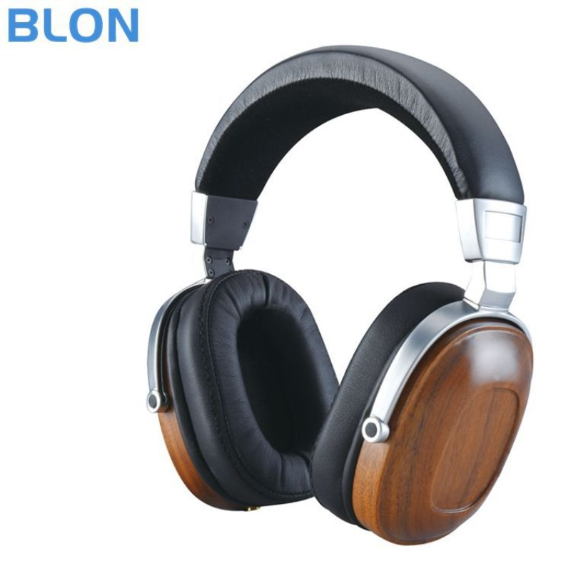 BLON B8 Headphone Stereo HIFI Dynamic Wooden Earphone Over Ear DJ Monitoring Headphone Metal Headset Bass Noise Cancelling bingle b 910 b910 b910 m noise cancelling deep bass over ear stereo hifi dj hd studio music 3 5mm 6 3mm wired earphone headphone