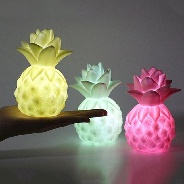 Cartoon Led Night Light Yellow White Moon Light Pineapple Apple Cloud Table  Lamp Creative Gift For