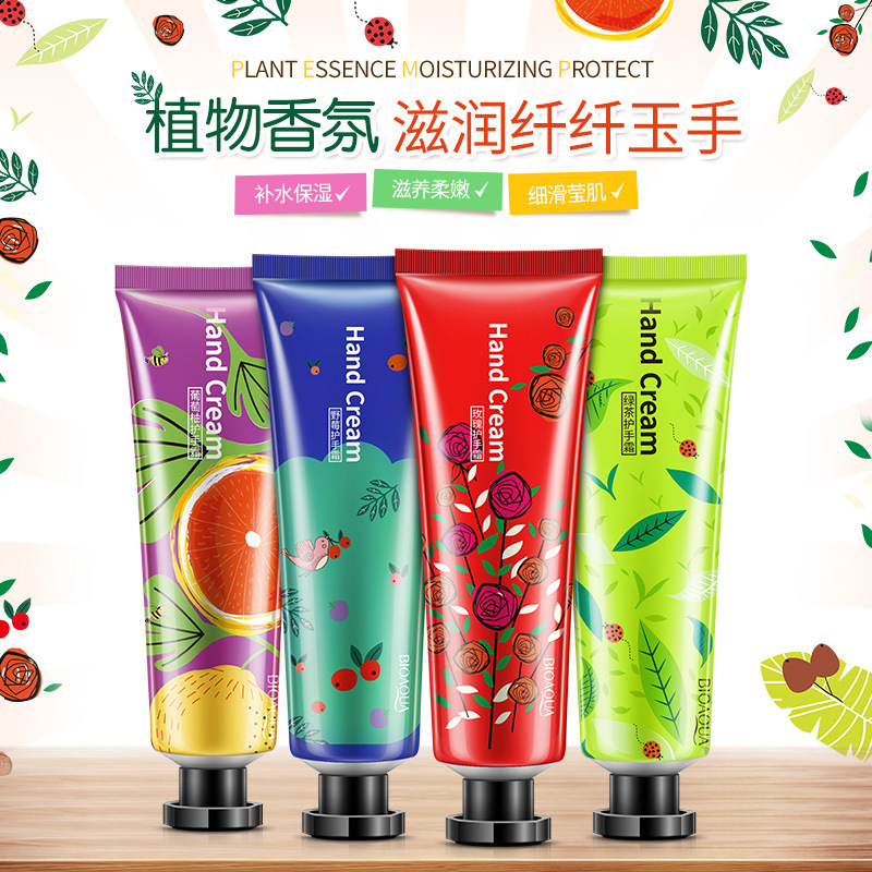 BIOAQUA Plant Flavor Hand Cream Set Moisturizing Hydra Moisturizing Nourishing Anti-chappi