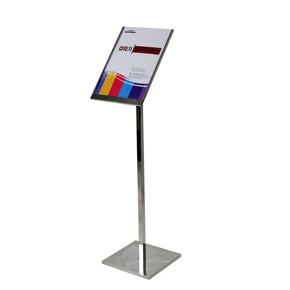 A3 Size Metal Display Standing Stainless Steel POP Display Standing Frames FLSD 002