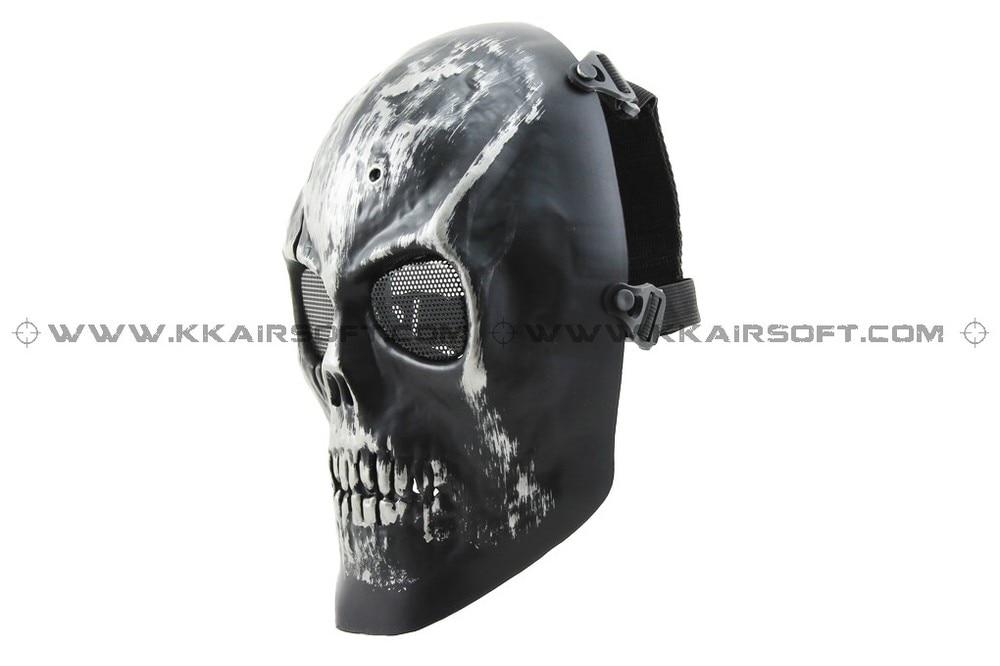 CACIQUE Party Mask Skull Full Mask Silverish Black [MK-06-SR]